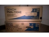 Denon PMA 700AE Integrated Amplifier and Denon DVD 1940 DVD Player