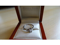 Bespoke Platinum and Diamond Ring for sale. Hand made by Reid & Sons, Newcastle. Hardly worn.