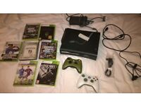 Xbox 360 + controllers, games and all leads. (HDMI)