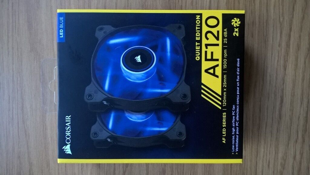 Brand new Corsair computer fans with blue-coloured led (quiet edition)   in  West End, Edinburgh   Gumtree