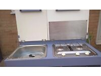 Camp cooker and sink