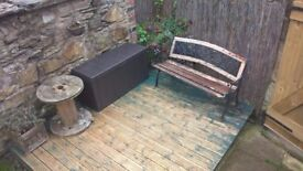 Reclaimed Cast Iron Bench