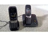 Hardly Used Gigaset C620 A DUO Twin Cordless Phone and Digital Answerphone - Hands Free + Call Block