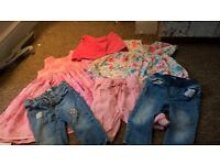 large bundle of girls 12-18 months clothes