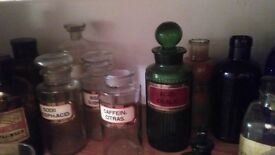Collection of ANTIQUE APOTHECARY items