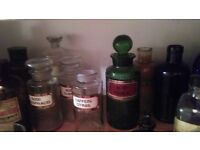 Collection of ANTIQUE APOTHICARY items