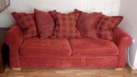 BHS Three seater sofa and matching armchair