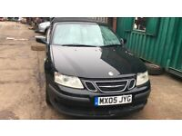 2005 Saab 9-3 Linear 150bhp 3dr 2.0 Petrol Black BREAKING FOR SPARES
