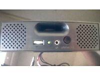 """black Thor sp200 60w 5.25"""" bay internal molex computer speakers with subwoofer! £15 each 5 available"""