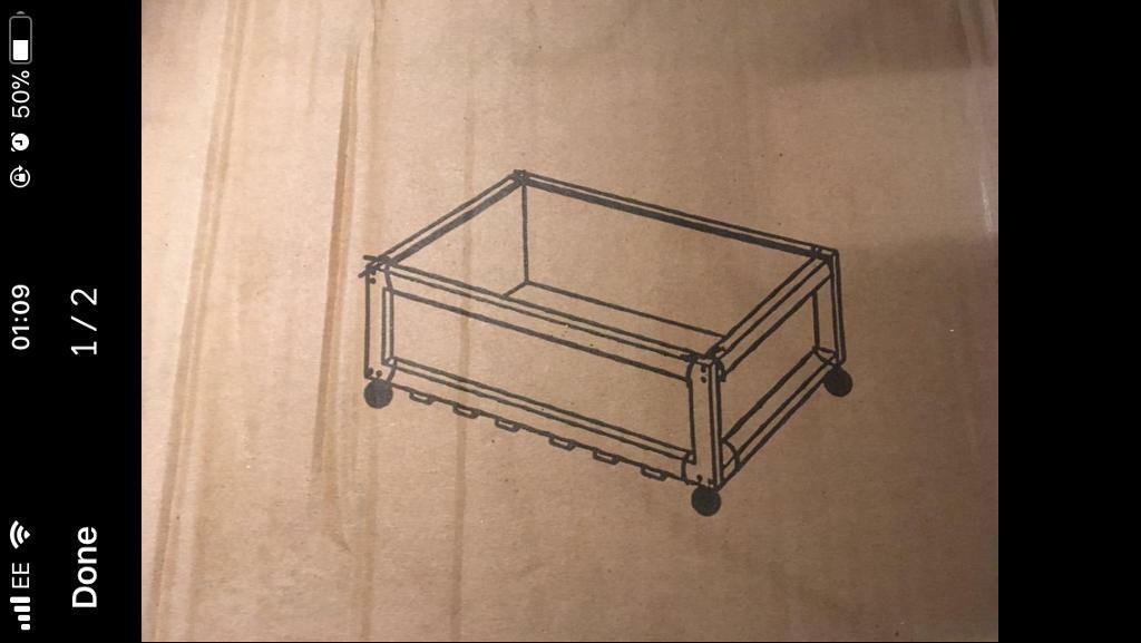 Canvas underbed storage drawers