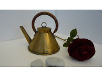 Charming Vintage early 20th century Workman's Kettle in Copper and Brass