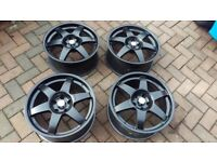 "18"" Compomotive MO6 Wheels (5x114.3 114 Rims Alloys Honda Nissan Toyota JDM Dish Stance Rota BBS OZ"