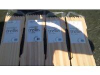 4no 180cm x 30cm wooden trellis
