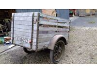 Unusual Vintage 1930s Tasker Car Trailer for sale - kept for 50 years in a garage