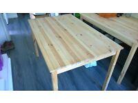 Simple IKEA pine table