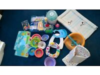 Assorted baby bits, inc steriliser, booster seat, potty,changing mat, travel nest, mobile