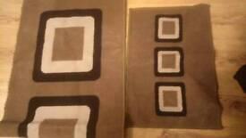 Brown Beige doormat and runner
