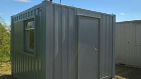 PORTABLE CABIN - 10ft x 10ft OFFICE - SHIPPING CONTAINERFA