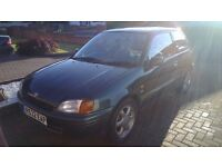 TOYOTA STARLET 1.3 CD VERY LOW 27,000 MILES FUTURE CLASSIC