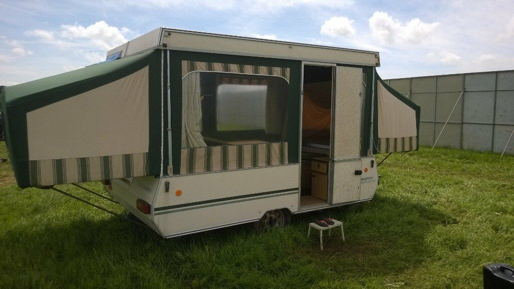 Conway Tardis Folding Caravan Trailer Tent Hard Top
