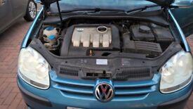 VW Golf blue car