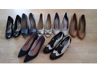 A selection if size 8 heels