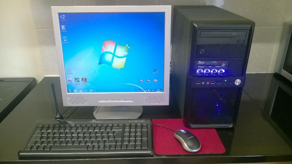 Custom Built Pc Gaming Desktop Computer With Fast Graphics Card Freeview Wifi Windows
