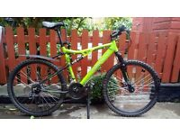Men's 20 inch mountain bike.