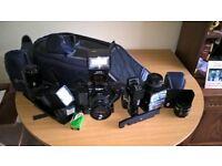 Minolta 9000 35 ml camera and equipment