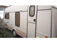 1991 4 berth caravan, old but good condition. full size bradcot awning included