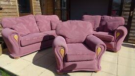 Sofa Suite in Plum