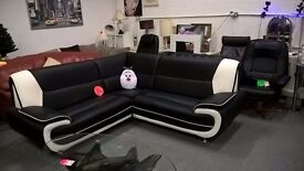 stunning black corner sofa as new condition for 235