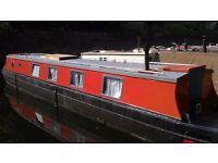 Static narrow boat for rent on Regents Canal with magical mooring