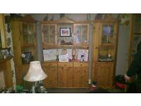 4piece pine dresser set