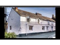 Lovely old cottage in central Totnes for rent - parking, woodburner and 2 bedrooms sleeps 5