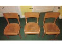Vintage old school chairs
