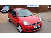 LOW MILEAGE FORD FIESTA 1.2 L & NEW MOT AND SERVICE ON SALE