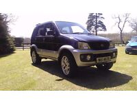 2003 Diahatsu Terrios jeep 1.3 petrol 4 wheel drive ideal for off roading FOR PARTS OR REPAIR