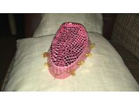 Pink sequin hat for fancy dress / play / costumes