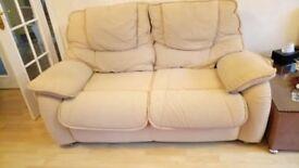 Cream 2 seater Sofa Contour Fabric