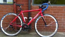 "B'Twin Triban 3 Aluminium 6061 Frame 19"" Frame Red Racing Bike"