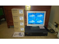 EcoSense 4 Channel DVR with NetVu + Remote Control + Screen + 4 Panasonic Colour Dome Cameras