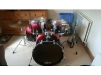 Premier Cabria XPK 5 Piece Drum Set + Hardware + Snare Kit + ZBT Ride