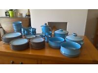 Denby Corfu Dinner Service and Tea Set for 7 people plus spares of some items.