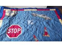 boys padded throw / blanket / quilt / bedspread