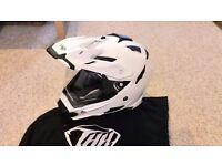 THH TX-27 Dual Sport Helmet - size L , glossy white