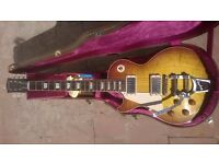 Left Handed 2015 Gibson Les Paul 1958 R8 Iced Tea VOS