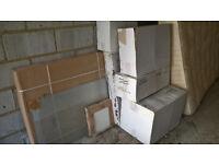 Brand new Victoria Plumb/Plum bathroom fixtures: toilet, basin, cabinet, towel rail, shower screen!!