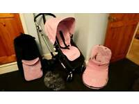 BUGABOO CAMELEON 3 BABY PINK SYSTEM
