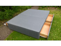 Ex-display Myers Grey King Size Storage Divan Bed Base.